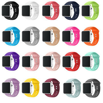 AU9.99 • Buy Wrist Silicone Soft Sport Band Strap For Apple Watch Series 6 5 4 3 2 1 Se