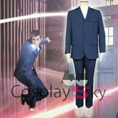 Doctor 10th Doctor Who David Tennant Blue Suit Uniforms Cosplay Costume • 37.99£