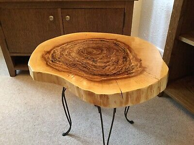 £95 • Buy Occasional Table Hand Made -New. From Solid Tree Slab.