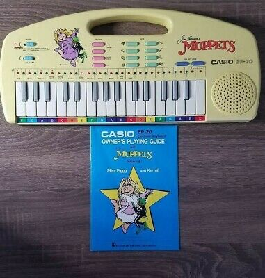 $24.99 • Buy 1987: EP-20 Casio: Electronic Keyboard Featuring Muppets With Music Book: WORKS