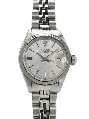 $ CDN4007.56 • Buy Authentic Rolex Vintage Watch Oyster Perpetual Date Silver Dial 6917 O402644252