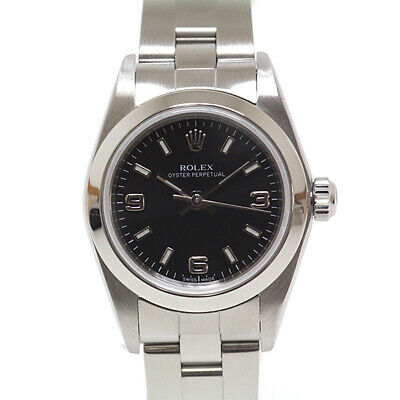 $ CDN4825.98 • Buy Authentic Rolex Vintage Watch Oyster Perpetual 76080 Black Dial M427895342