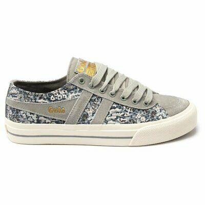 New Womens Gola Multi Quota II Canvas Trainers Plimsolls Lace Up • 23£