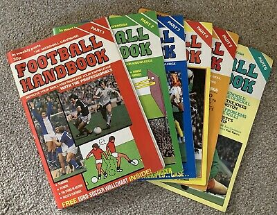 "The Marshall Cavendish ""FOOTBALL HANDBOOK"" Part 1, 2, 3, 4, 5, 6 • 0.99£"