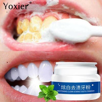 TEETH WHITENING POWDER Toothpaste Tooth Cleaning Oral Hygiene Remove Plaque 30g • 4.52£