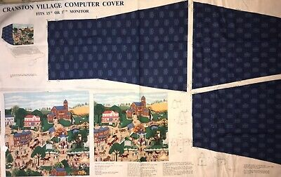 """$4.99 • Buy Cranston Village Computer Cover Panel QUILT, SEW,  FABRIC Fits 15"""" Or 17"""""""