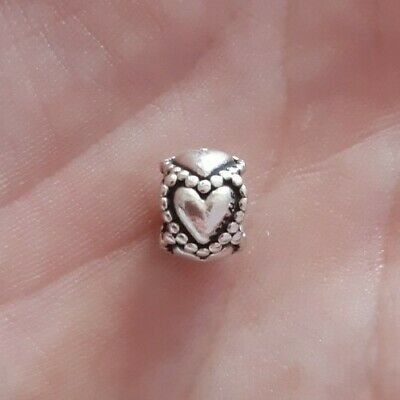 Genuine Pandora S925 ALE Hearts Sterling Silver Spacer Charm Bead  • 7.70£