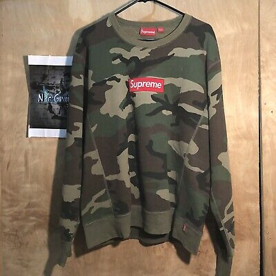 $ CDN933.38 • Buy Supreme Camo Crewneck Box Logo