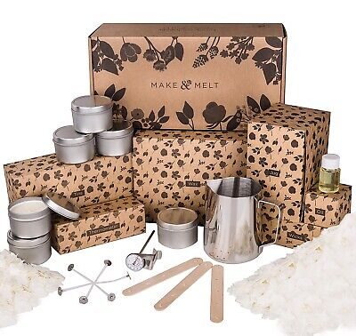 MAKE&MELT Candle Making Kit With Soy Wax • 34.99£