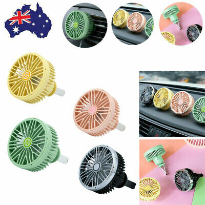 AU12.65 • Buy Car Air Vent Fan USB 360 Degrees Rotating Air Outlet Clip-on Adjustable Mini Fan