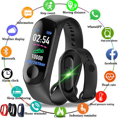 $ CDN6.36 • Buy Smart Watch Wrist Band Man Women Kid Waterproof Blood Pressure Heart Rate Meter