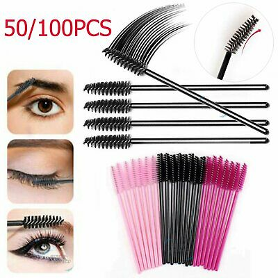 Disposable Mascara Wands Eyelash Brushes Kit Lash Extension Spoolie Applicator • 2.66£