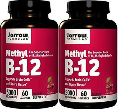 Jarrow Formulas Methylcobalamin Methyl B12 5000 Mcg CHERRY 120 Lozenges 2 Bottle • 41.39£