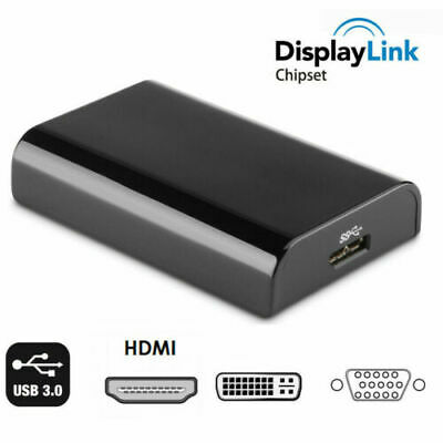 AU29.13 • Buy Displaylink USB 3.0 To HDMI DVI VGA Video Converter Adapter For Windows 10 MacOs