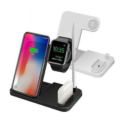 AU30.98 • Buy 4IN1 Qi Wireless Charger Dock Foldable Stand For IWatch 5/4/3/2/1 IPhone 11 XS 8