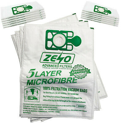 20 X HOOVER BAGS FOR NUMATIC HENRY HETTY JAMES VACUUM CLEANER HEPA-FLO APPROVED • 8.65£
