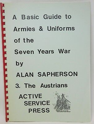 Basic Guide To ARMIES And UNIFORMS Of 7YW Vol 3 THE AUSTRIANS 46822 • 11.99£
