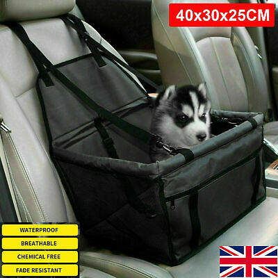 Large Car Seat Carrier Cat Dog Pet Puppy Travel Cage Booster Belt Bag Black 30L • 10.79£