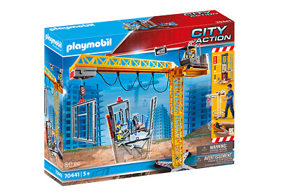 £86.91 • Buy Playmobil 70441 City Action RC Crane With Building Section MIB/New