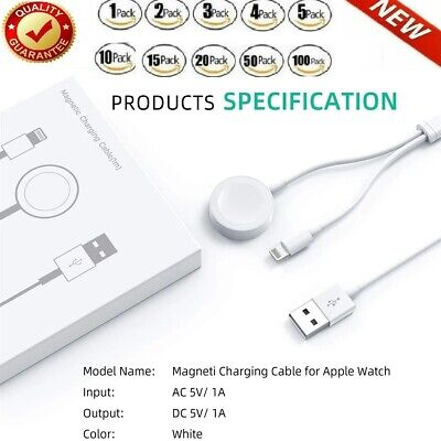 $ CDN11.89 • Buy Magnetic Charger 2in1 USB Cable For Apple Watch IWatch 6/5/4/3/2 IPhone 8 XS Lot