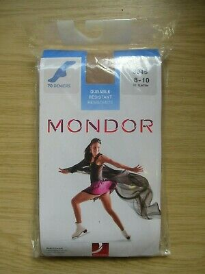 Mondor 70 Deniers 3345 Ice Skating Tights, Size 8 - 10, 82 Suntan, New In Packet • 8.99£