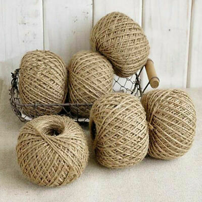 100 Yds Natural Jute Hessian Rope Burlap Rustic Cord String Craft Wedding Decor • 1.99£