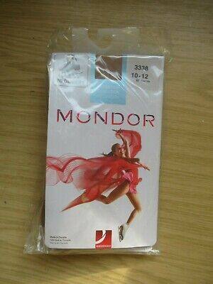Mondor 70 Deniers 3338 Ice Skating Tights, Size 10-12, 82 Suntan, New In Packet • 9.99£