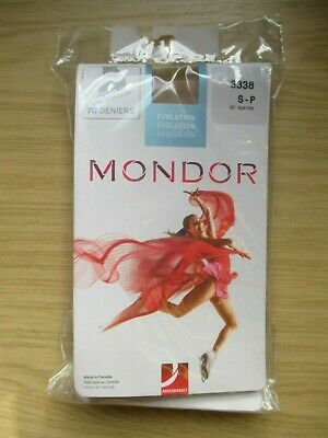 Mondor 70 Deniers 3338 Ice Skating Tights, Size S-p, 82 Suntan, New In Packet • 9.99£