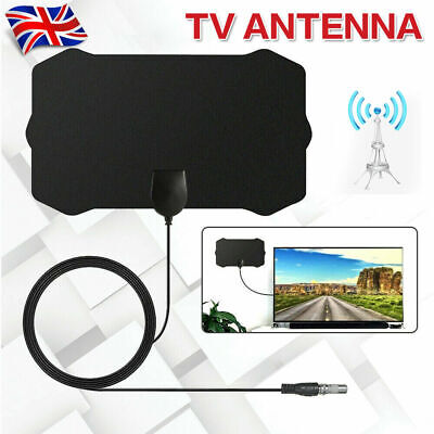 Indoor Digital TV Antenna HDTV HD Aerial Freeview Signal Amplified 1000Miles UK • 7.95£