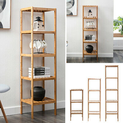 3/4/5 Tier Storage Rack Plant Stand Display Shelf Wooden Bookshelf Free Standing • 18.95£