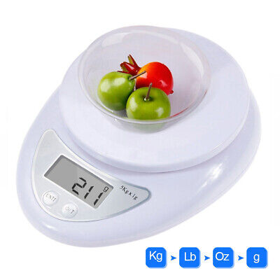5KG Digital Kitchen Scales LCD Electronic Cooking Food Weighing Scale With Bowl • 7.97£