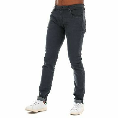 Men's Ringspun Poseidon Zip Fly Relaxed Skinny Fit Jeans In Grey • 21.94£