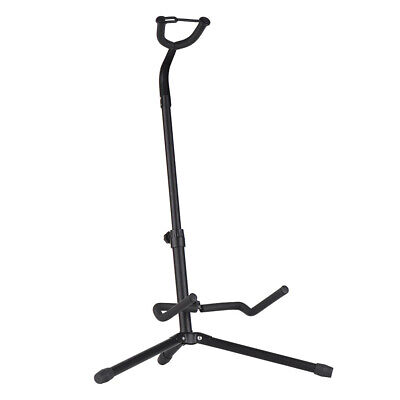 $ CDN27.93 • Buy Classic Single Guitar Floor Stand On Stage BLACK Safety Strap Bass Acoustic Elec