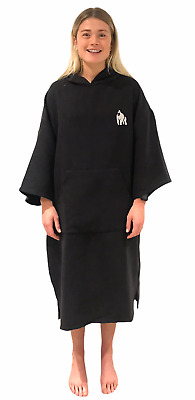 ECO Changing Dry Robe Poncho Beach Swimming Toweling Black Adult And Child • 27.95£