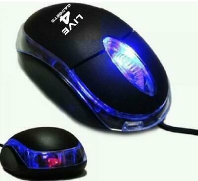 Wired Usb Optical Mouse For Pc Laptop Computer Scroll Wheel - Black Uk • 3.95£