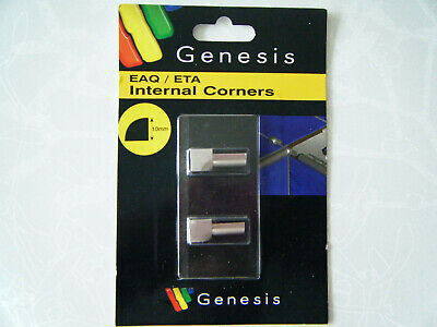 GENESIS 10mm TILE TRIM EAQ / ETA Internal Corners  Brushed Aluminium • 10£