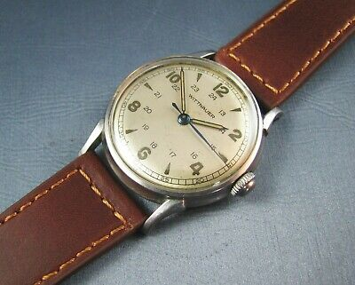 $ CDN342.16 • Buy Vintage Longines Wittnauer Stainless Steel Military Style Mens Watch 11ESK 1950