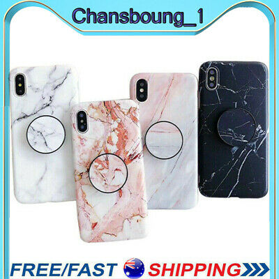 AU5.99 • Buy For IPhone XS Max XR 7 8 Plus 11 Pro Max Case Marble Stone Put Up Holder Cover