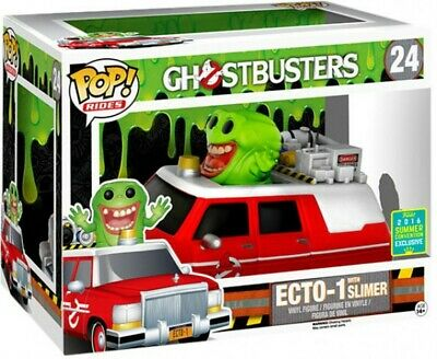 Ghostbusters - Slimer With Red Ecto-1 Pop! Rides Vinyl Figure (2016 Summer Conve • 30.65£
