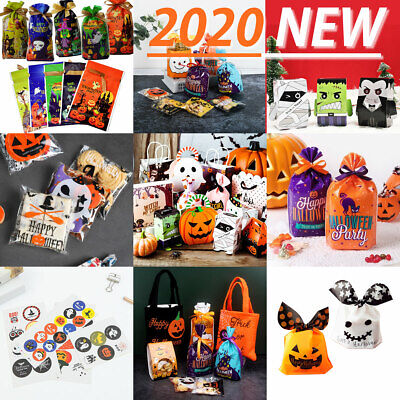 £2.19 • Buy 2020 NEW Halloween Party Treat Candy Sweet Gift Cello Bags / Boxes / Stickers