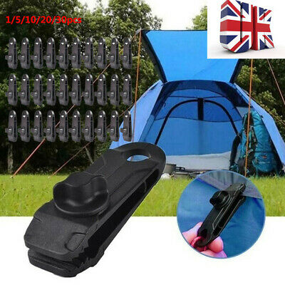 1-30PCS Reusable Heavy Duty Linoleum Clip Fixed Plastic Clip For Outdoor Tent • 2.69£