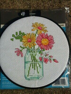 Dimensions Summer Flowers Cross Stitch Kit Finished Project • 8£