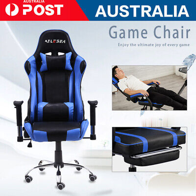 AU85.26 • Buy Gaming Chair Office Seating Racing Computer PU Leather Executive Racer Footrest