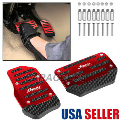 $7.98 • Buy 2pcs Universal Non-Slip Automatic Gas Brake Foot Pedal Pad Cover Car Accessories