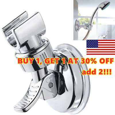 Bathroom Adjustable Shower Head Holder Rack Bracket Suction Cup Wall Mounted *-* • 4.73£