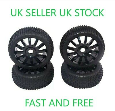 😀rc 1/8 Scale Car Buggy Wheels Rims & Tyres Tires Hsp Hpi😀 • 23.99£