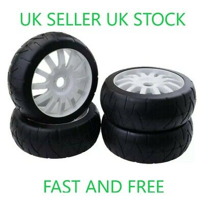 😀1/8 Scale Rc Car Buggy Wheels Rims On-road & Tyres Tires Jlb Hsp Hpi😀 • 25.99£