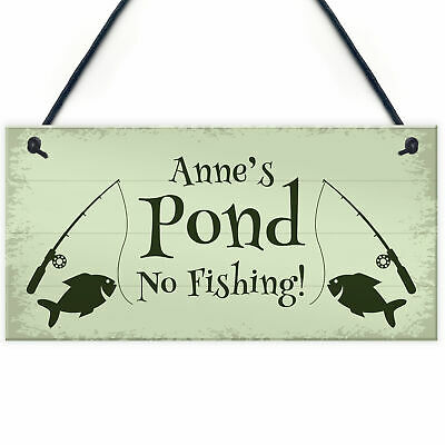 £4.99 • Buy Personalised POND Sign Garden Summerhouse Shed Sign Home Decor Gift
