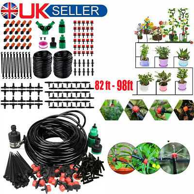 25M/30M Micro Drip Irrigation Watering Automatic Garden Plant Greenhouse System • 10.95£