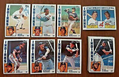 $ CDN0.92 • Buy 1984 Topps (23) CARD LOT ALL CLEVELAND INDIANS NM-MT OR BETTER